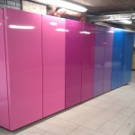 Coloured cladding panels