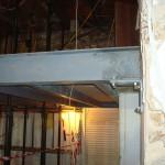 Steelwork forming mezzanine floor