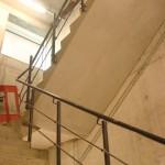 Mild steel staircase balustrading