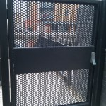 Steel fire escape door