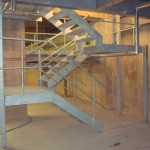 Galvanised steel stairs