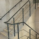 Mild steel staircase balustrade and wall rail