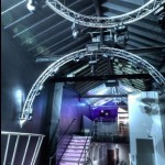 Steelwork, staircase and podium