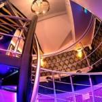 Stainless steel around spiral stairs