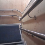 Stainless steel wall rail with DDA compliant wall rail brackets