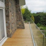 Frameless glass balcony balustrade