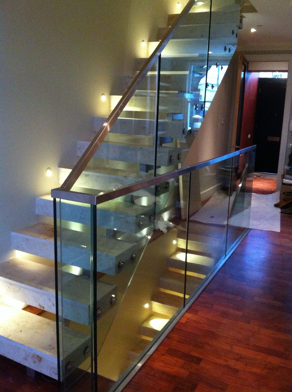 Frameless glass balustrade - Morris Fabrications Ltd - Architectural Metalworkers