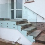Frameless glass balustrade fixed with stainless steel point fixings