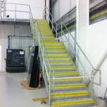 Galvanised straight steel staircase flight