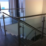 Stainless steel balustrade and wall rail