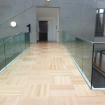 Frameless glass balustrade at Coventry University
