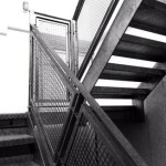 Galvanised steel penthouse staircase