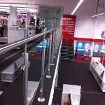 Stainless steel gallery balustrade to mezzanine