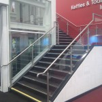 Feature staircase stainless steel balutrade