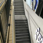 New customer steel staircase with powder coated balustrade to gallery