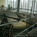 John Lewis feature staircase under construction