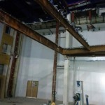 Steelwork prior to removal