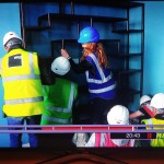 Our bespoke framework being carried into place on DIY SOS