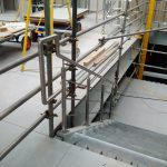 Stainless steel balustrade with running rails