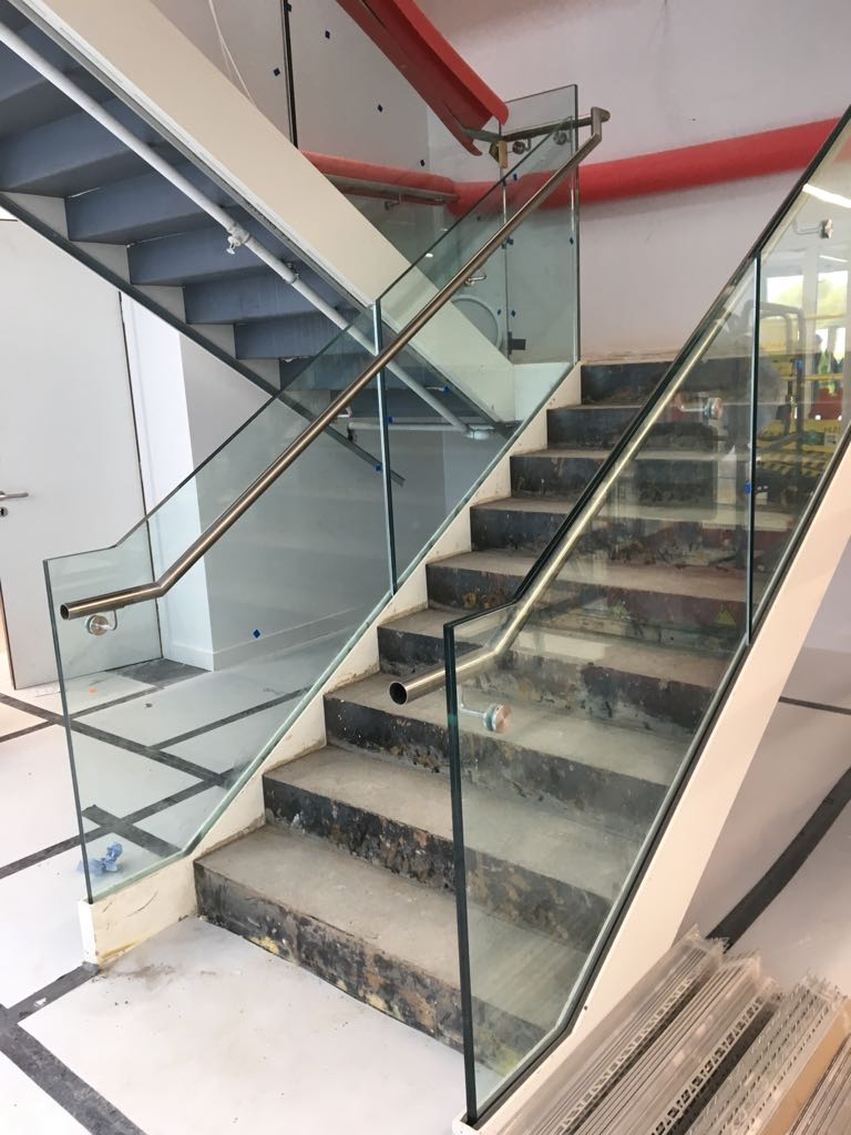 External Stair Concrete Glass Balustrade