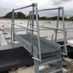 Up and over galvanised step over on roof