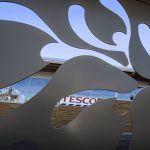 Mistletoe shape laser cut-out at Tesco Tenbury Wells