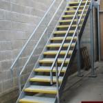 Galvanised steel stairs
