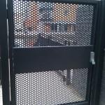 Steel fire escape door