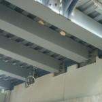Footbridge steelwork
