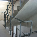 Mild steel staircase balustrade