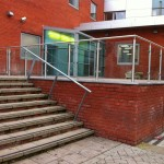 Stainless steel balustrade glass infill panels