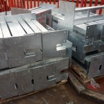 Fabricated steel posts, galvanised finish