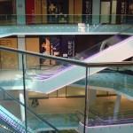 Frameless glass balustrade in the Atrium