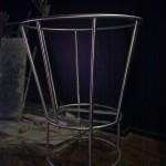 Stainless steel podium