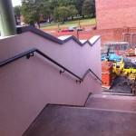 Galvanised wall rail powder coated finish black