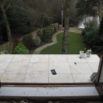 Balcony prior to balustrade being installed