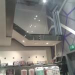 Frameless glass balustrade walkway