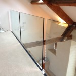 Side fixed frameless glass balustrade