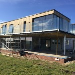 Frameless glass balustrade installed in the East of England