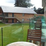 Frameless glass balustrade with no top rail in Scotland