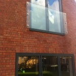 Prefixed juliette balcony with 6 no stainless steel glass adaptors