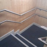 Stainless steel wall rail brackets