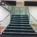 Stainless steel balustrade to stairs