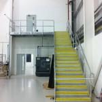 Galvanised straight steel staircase flight