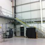 New galvanised steel staircase