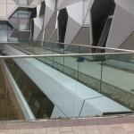 Frameless glass balustrade at Coventry University