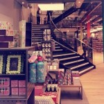 Curved staircase at Paperchase Glasgow