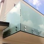 Frosted frameless glass balustrade