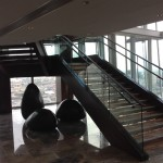 Feature staircase at Shangri-La Hotel, The Shard