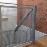 Top of stair galvanised balustrade